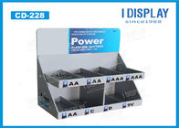 2 Tier Recycled Small PDQ Cardboard Counter Display For Battery Promotion