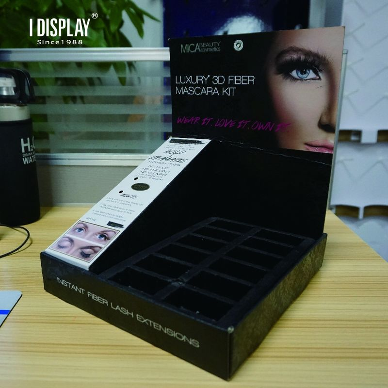 Customized Cardboard Eye Cream Point Of  Sale Counter Top Display environment friendly