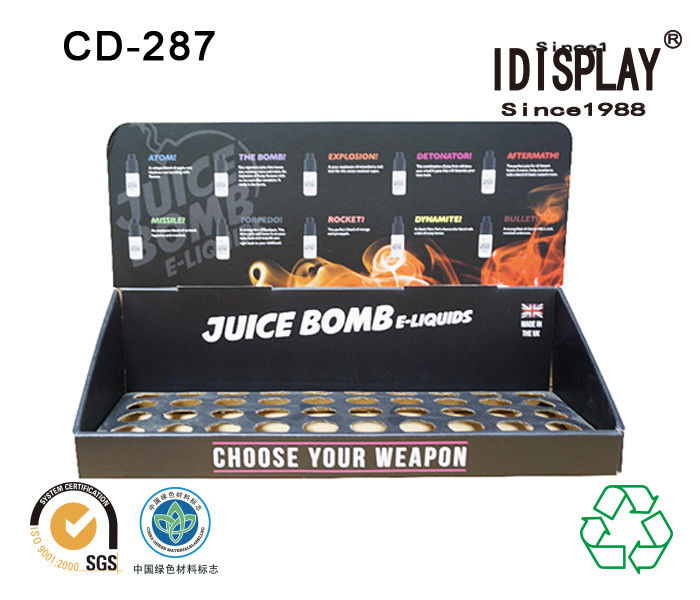 Retail Store E Liquid Juice Cardboard Table Top Displays , Cigarette Cardboard Display Racks Cabinet